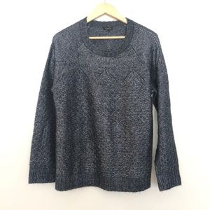 Talbots XL Thick Knit Long Sleeve Gray Sweater